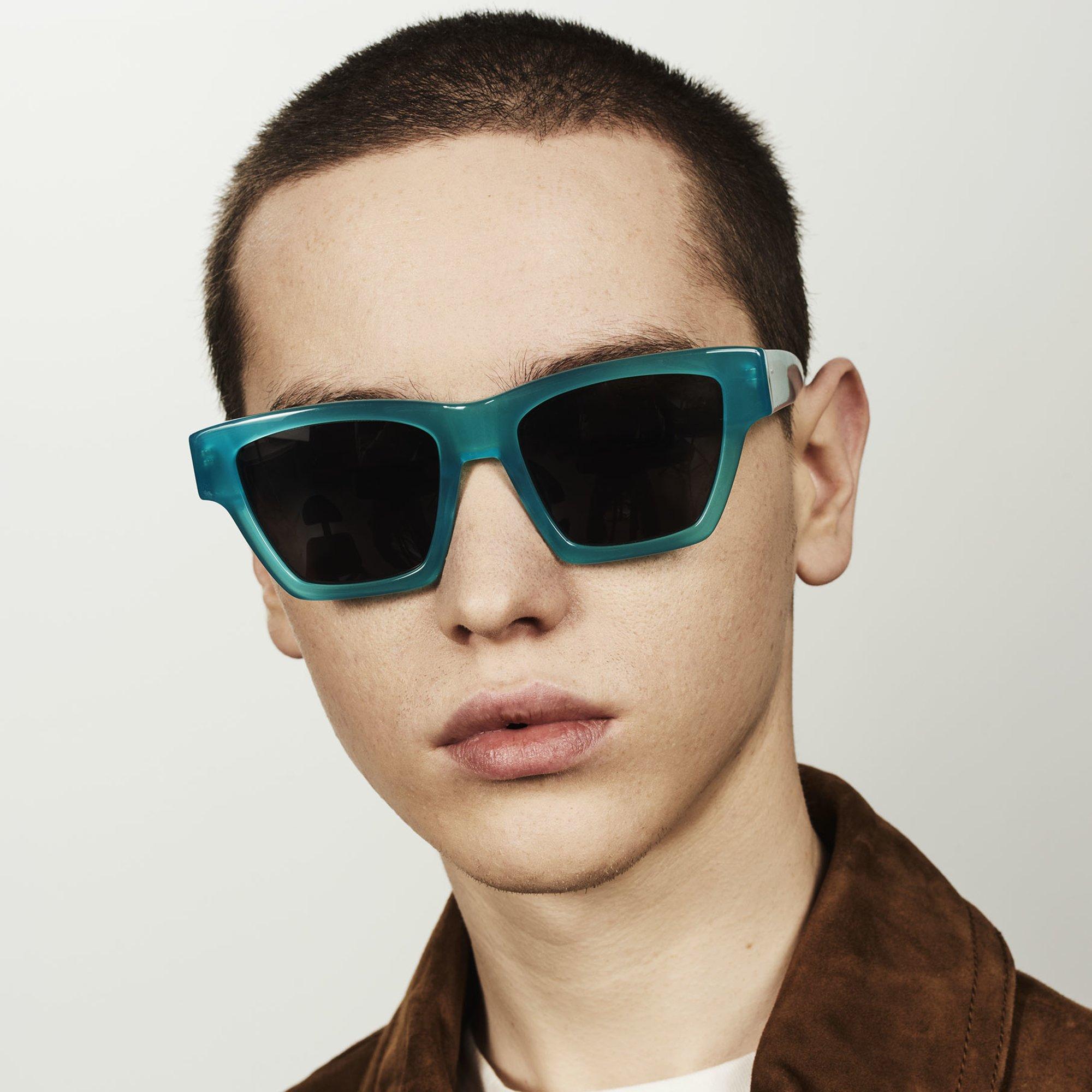 Ace & Tate Sunglasses | square acetate in Blue, Green