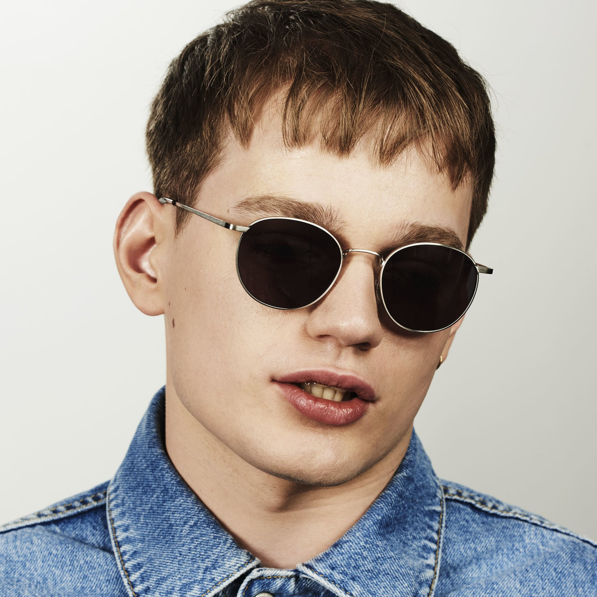 Ace & Tate Sunglasses | round metal in Silver