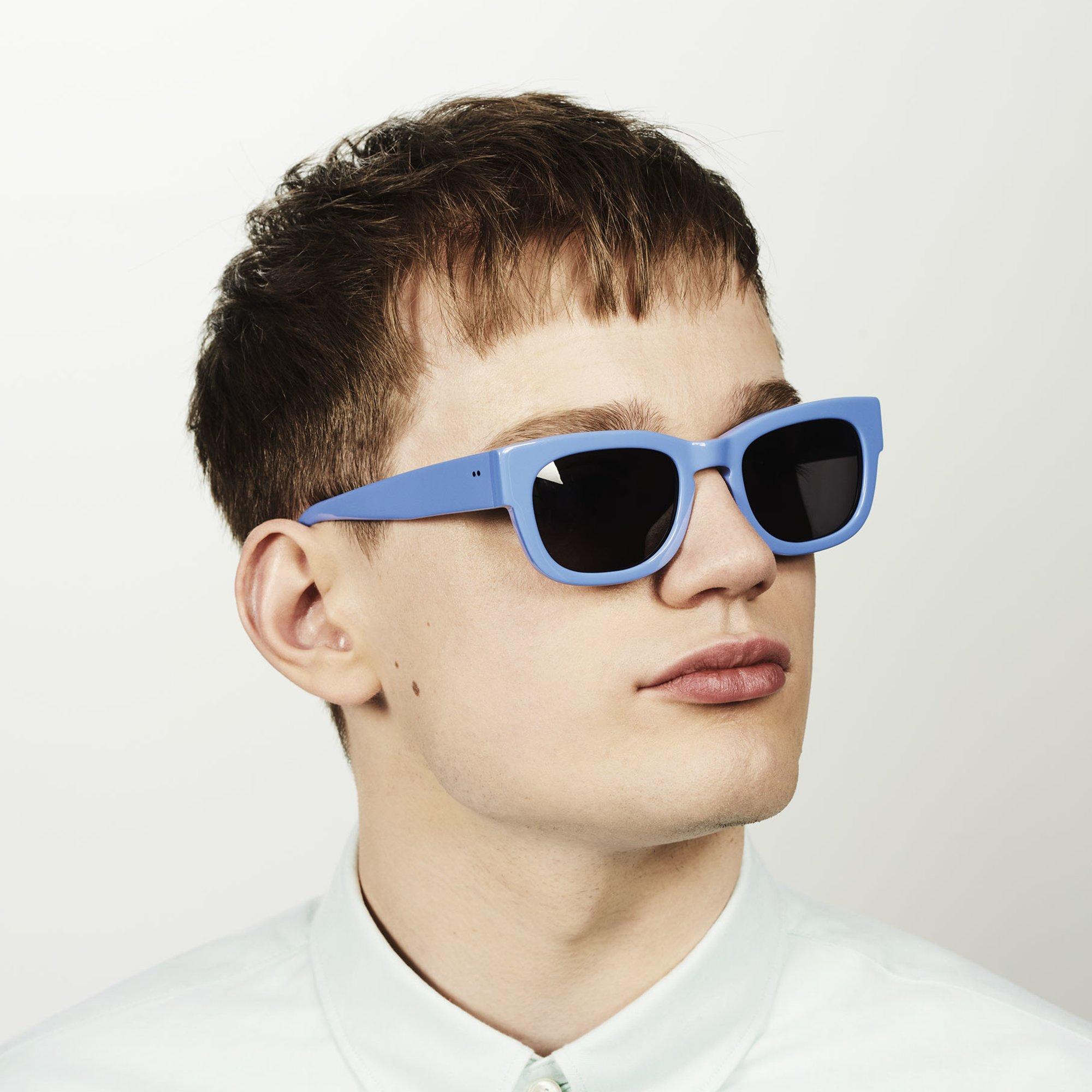 Ace & Tate Sunglasses | rectangle acetate in Blue