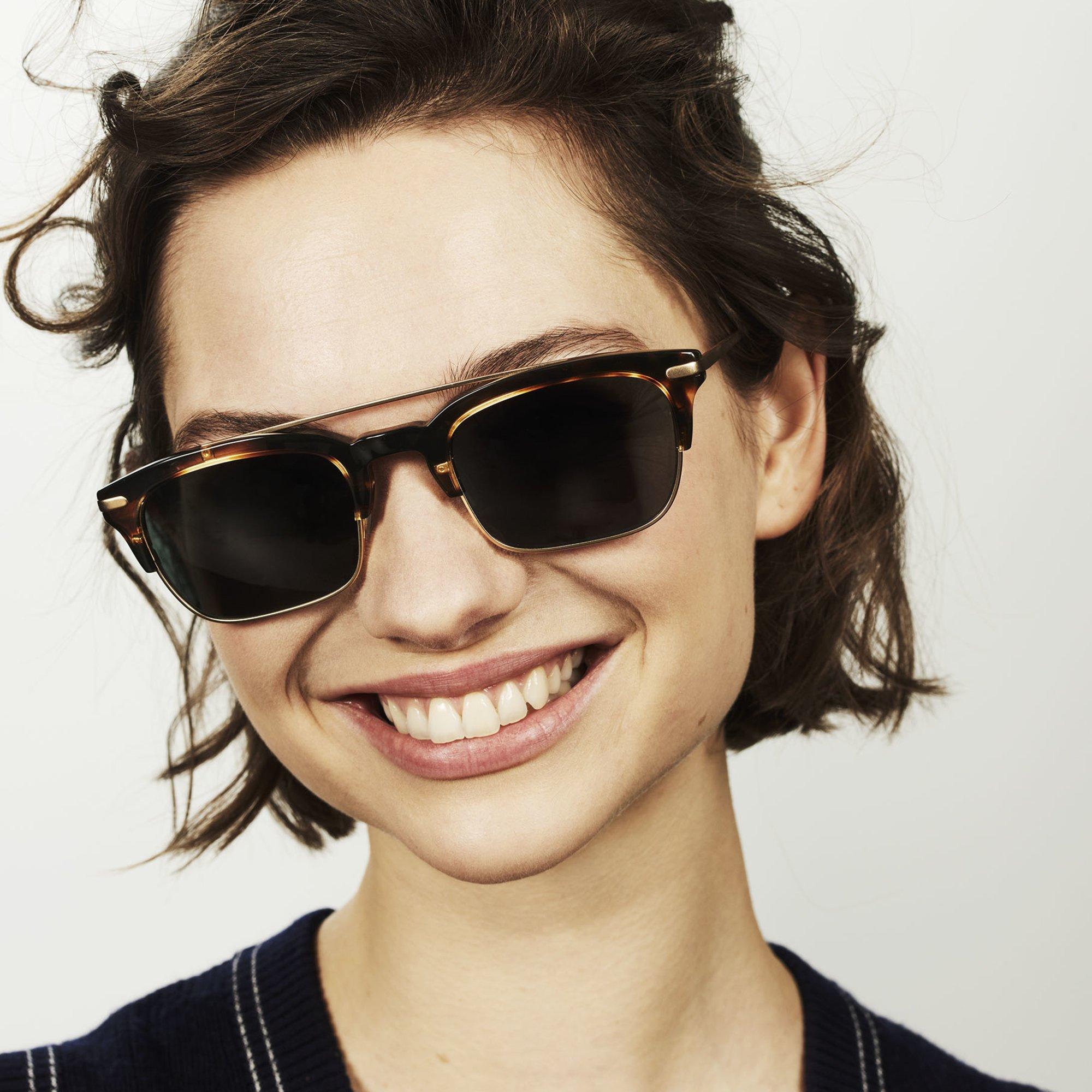 Ace & Tate Sunglasses | rectangle combi in Brown, Orange
