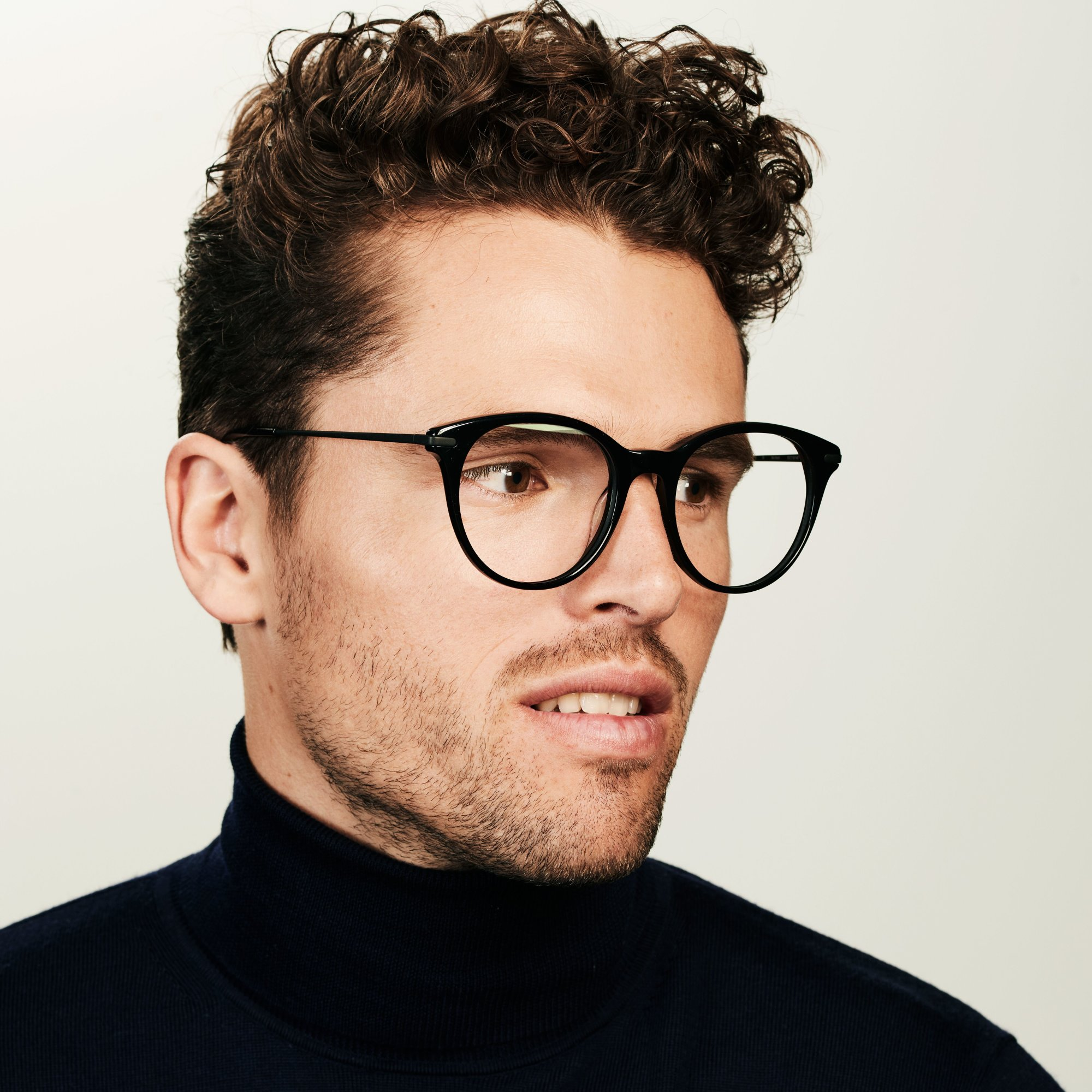 Ace & Tate Glasses | rund Acetat in Schwarz