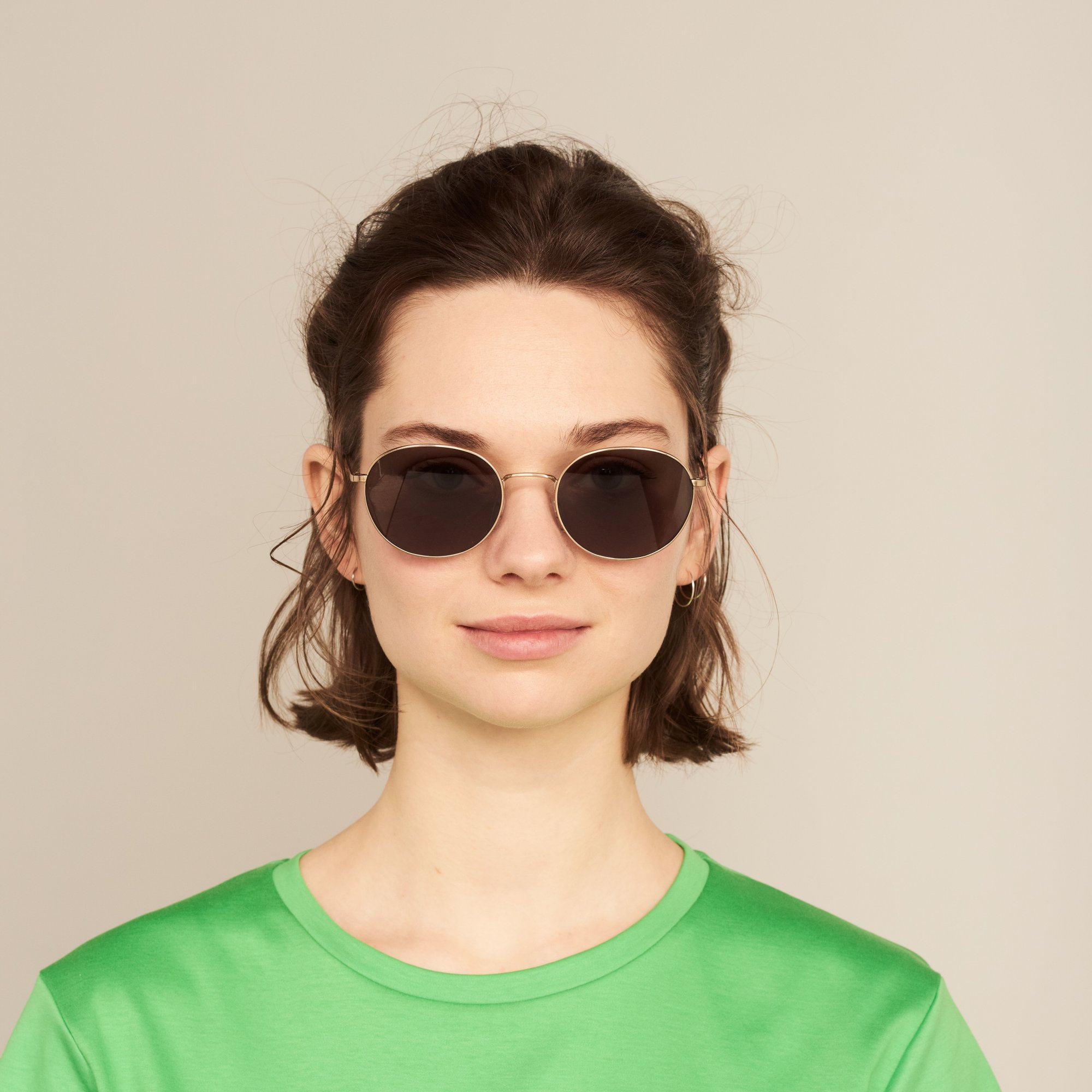 Ace & Tate Sunglasses |  metal in Gold