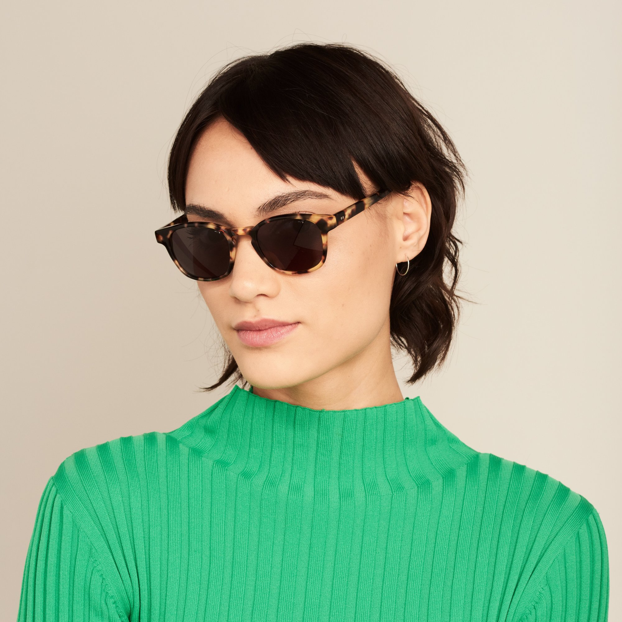 Ace & Tate Sunglasses   square bio acetate in Black, Yellow