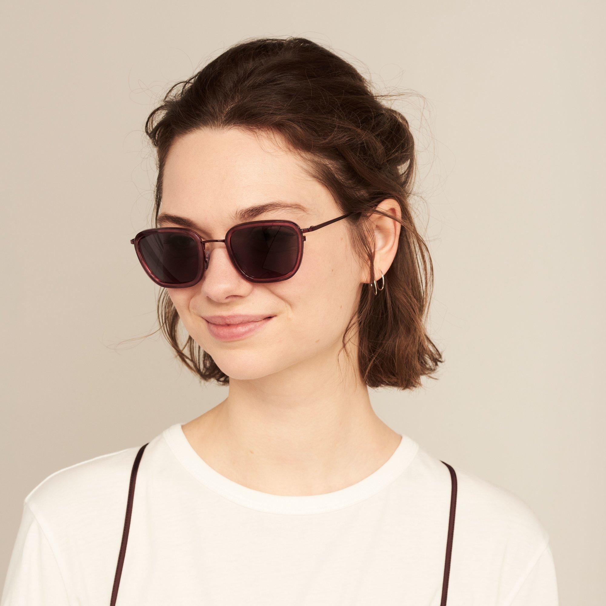 Ace & Tate Sunglasses | quadratisch Verbund in Rot