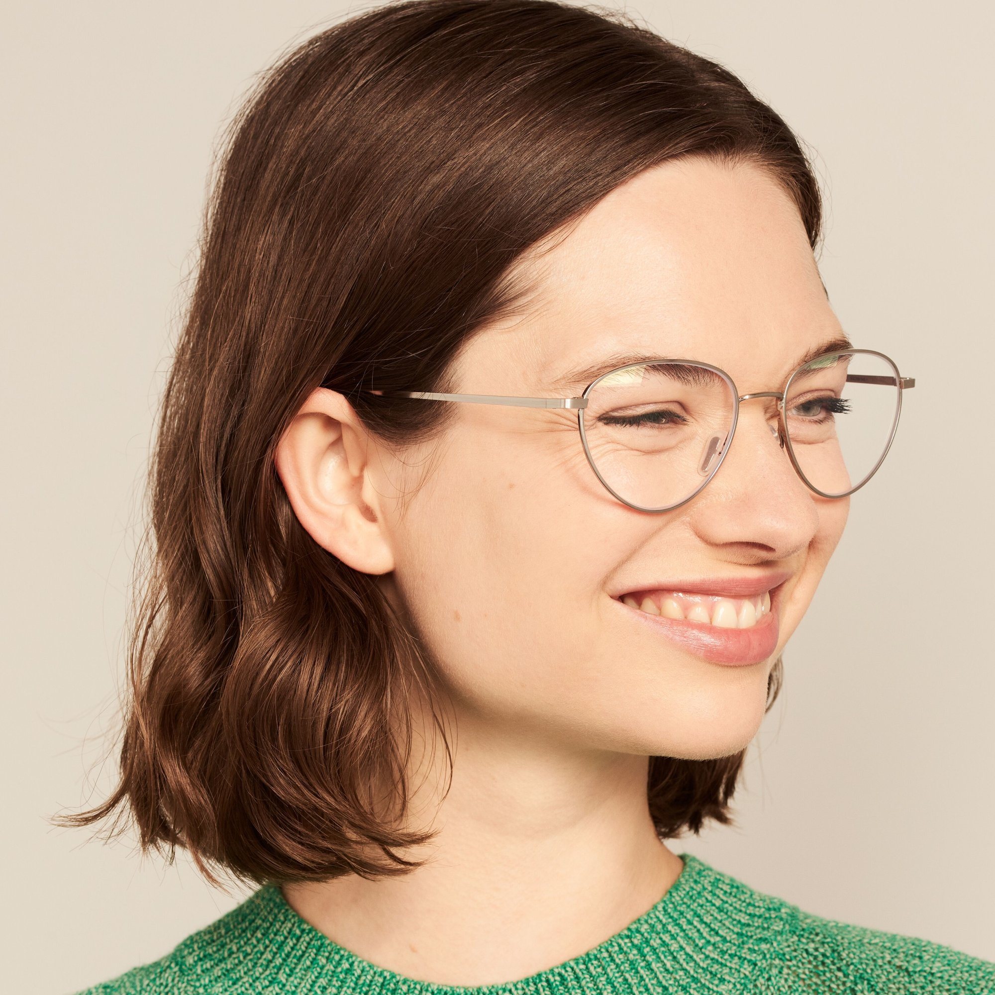 Ace & Tate Glasses |  Metall in Silber