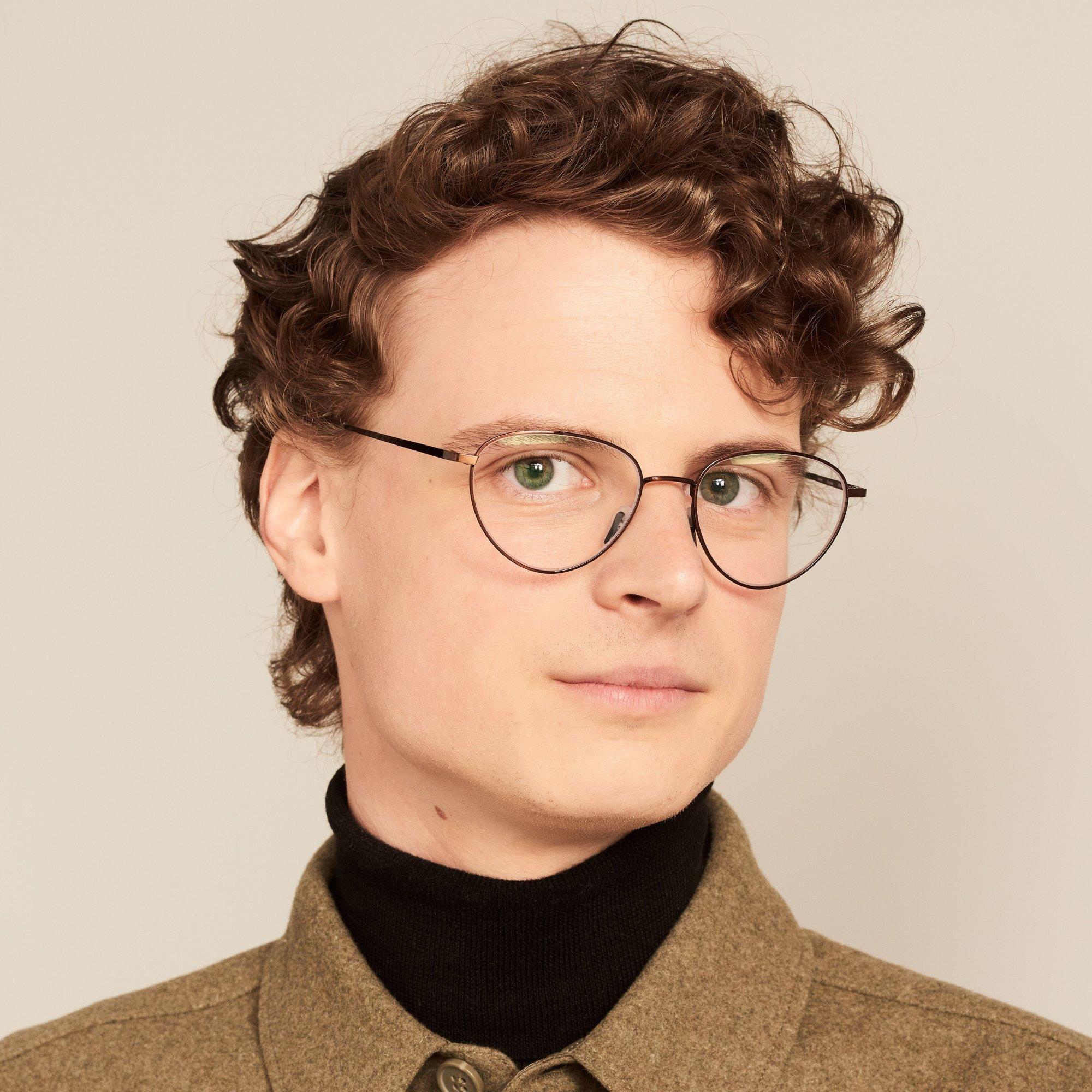 Ace & Tate Glasses |  metal in Brown