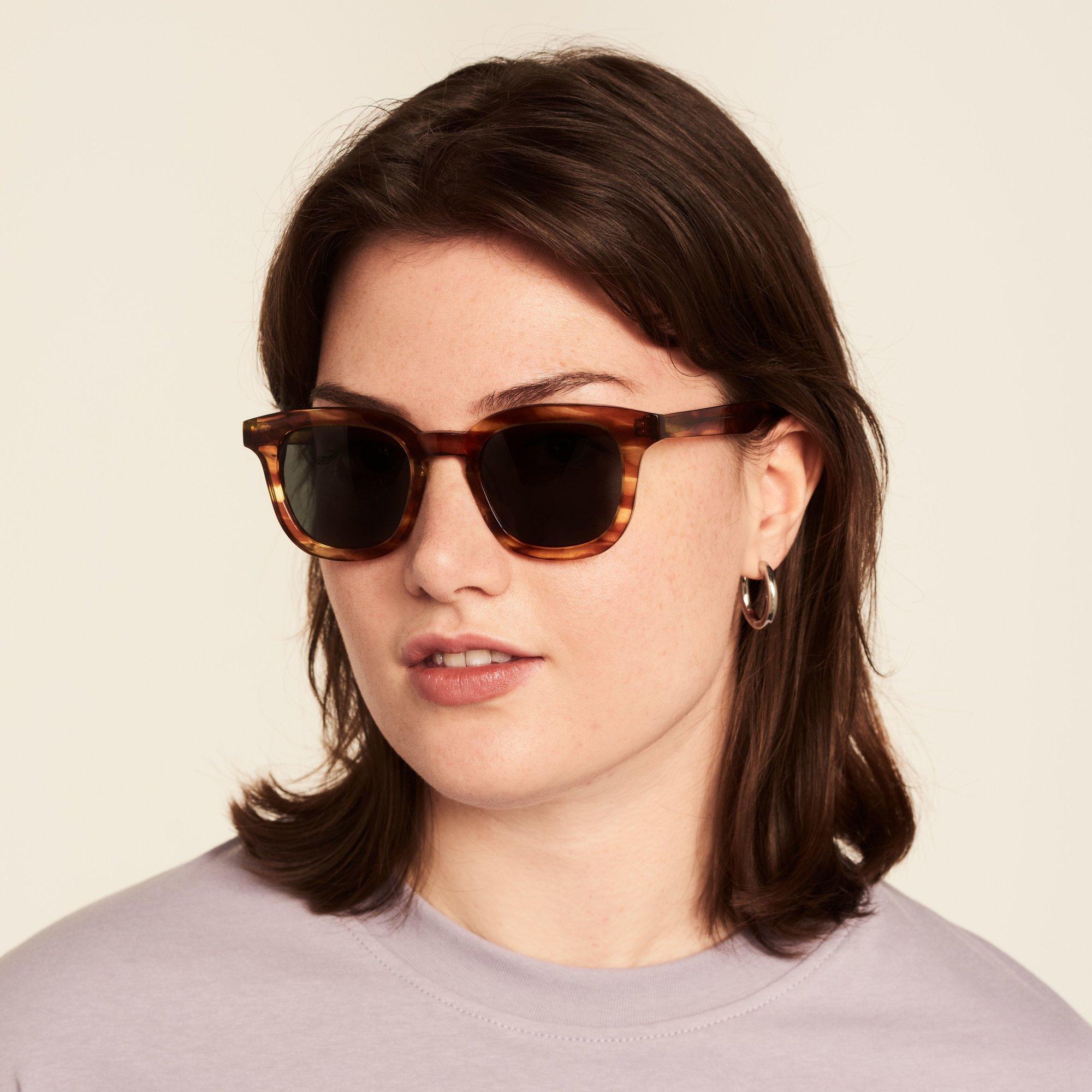 Ace & Tate Sunglasses   square acetate in Brown, Orange