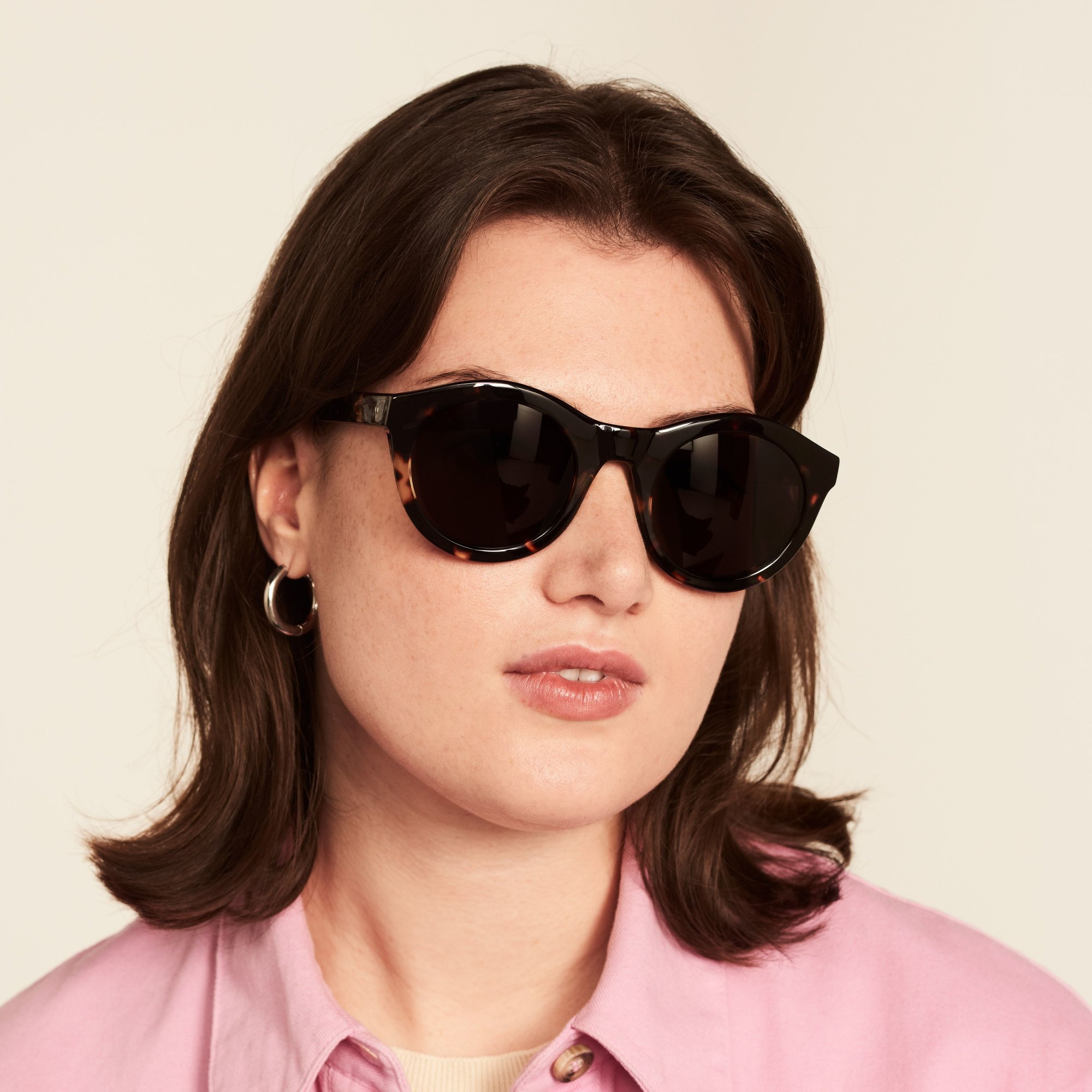 Ace & Tate Sunglasses | rund Acetat in Braun
