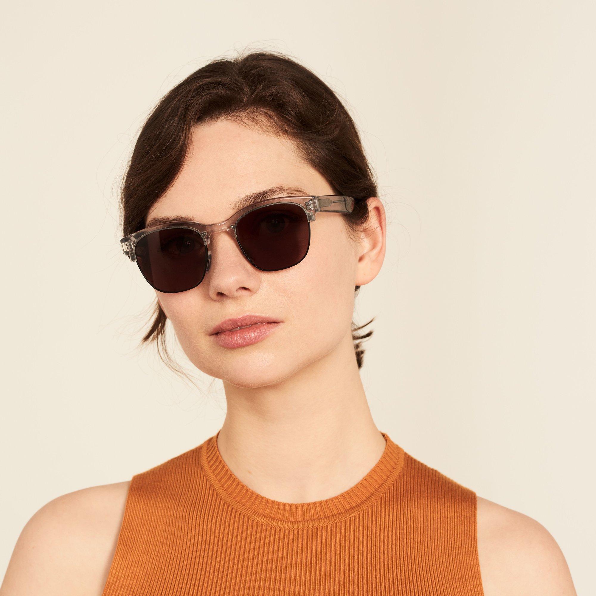 Ace & Tate Sunglasses | square acetate in Black, Clear, Grey