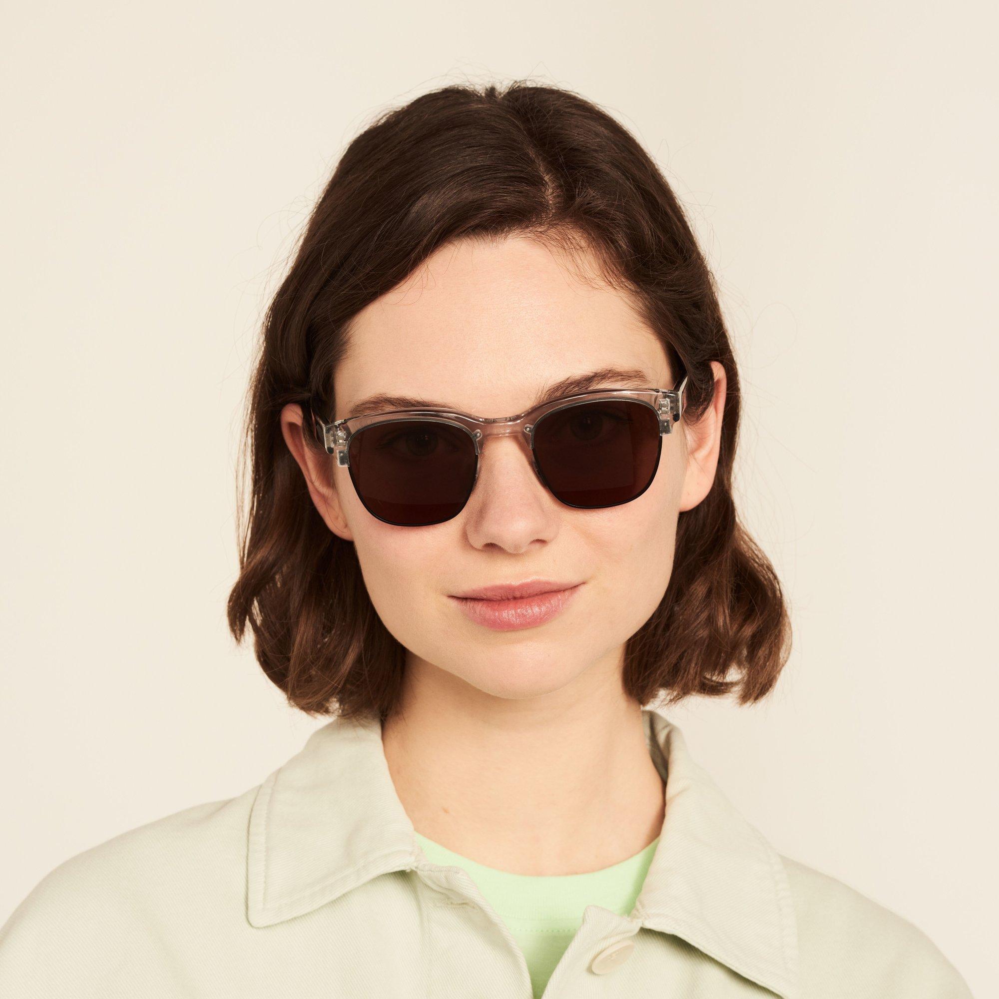 Ace & Tate Sunglasses | quadratisch Metall in Schwarz, Transparent, Grau