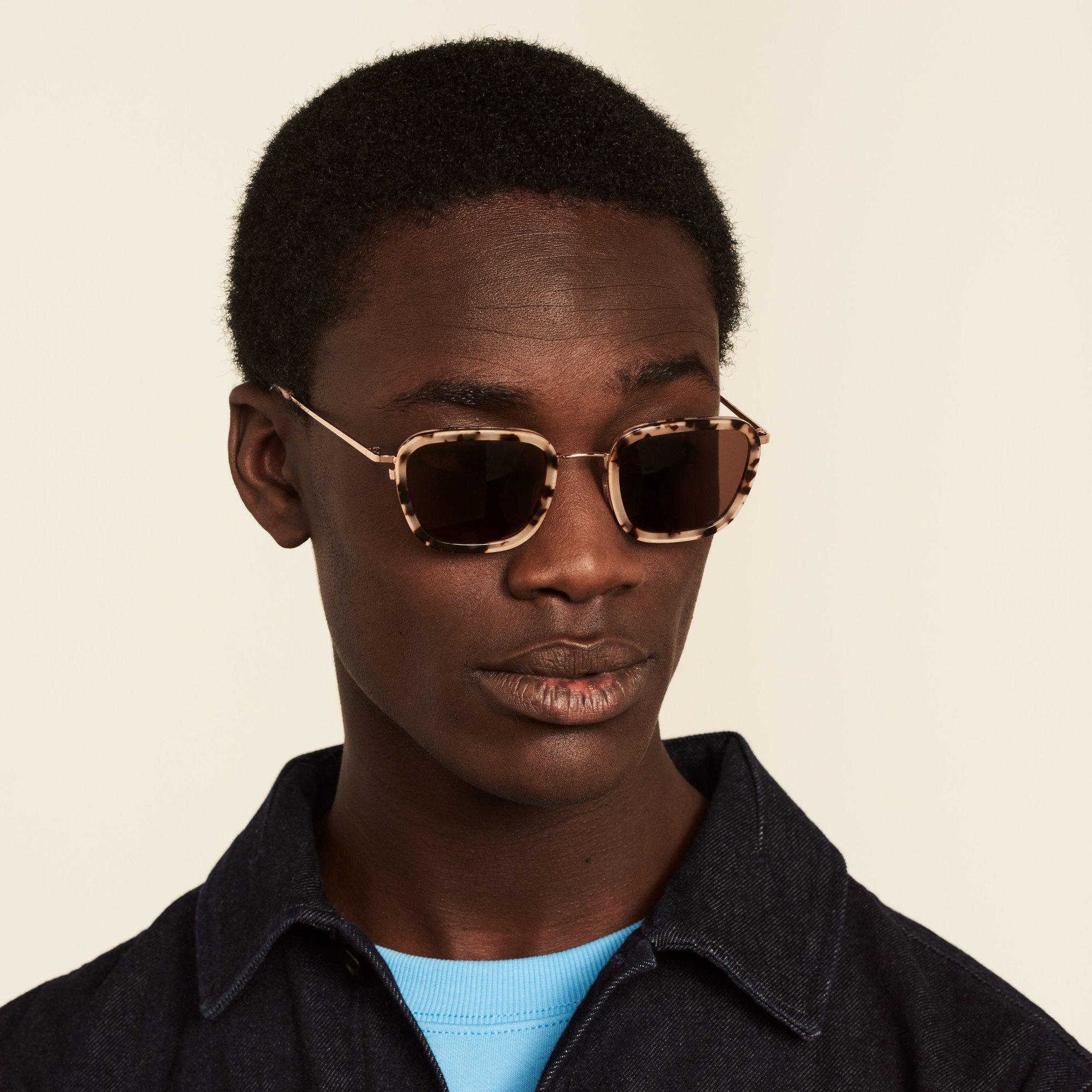 Ace & Tate Sunglasses | square acetate in Beige