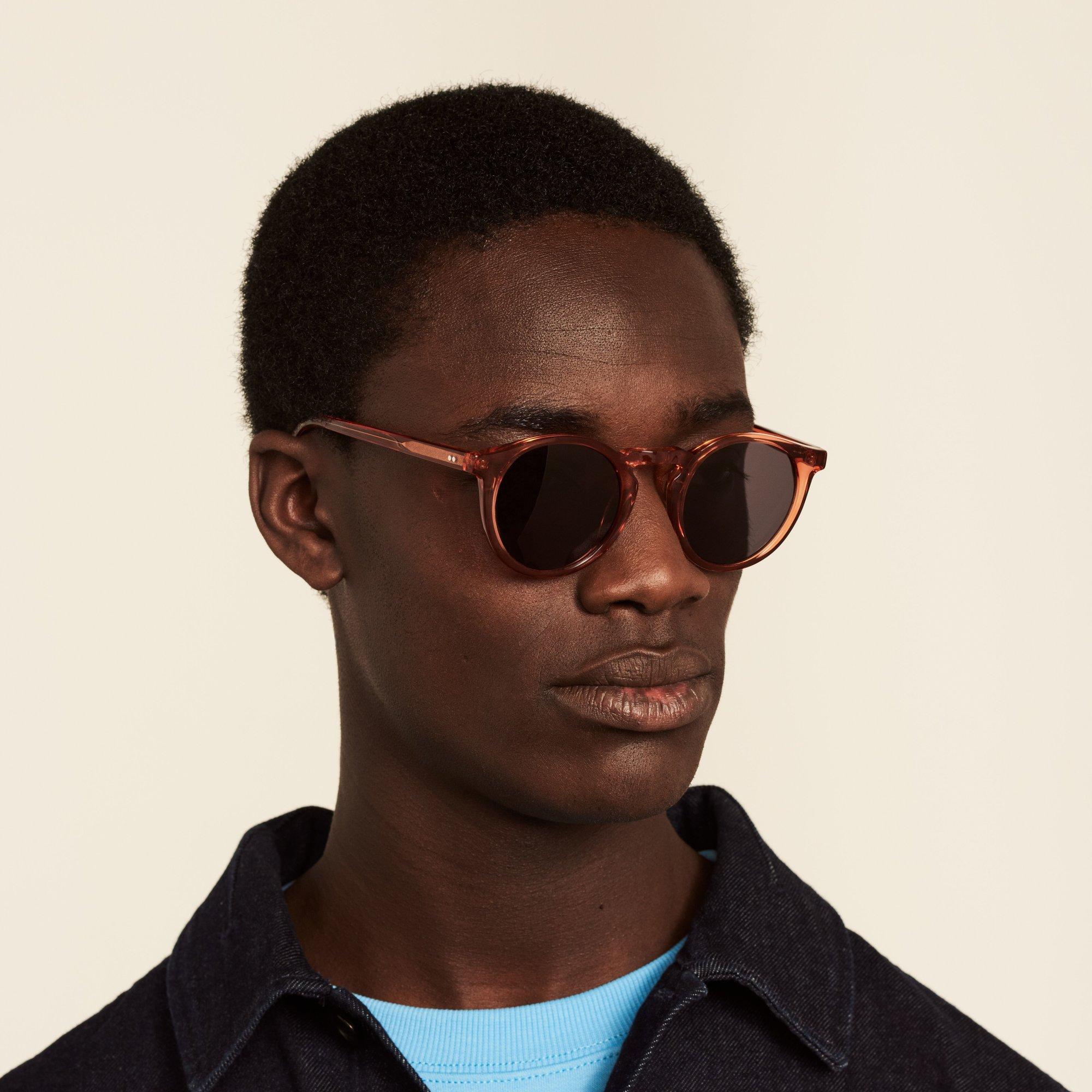 Ace & Tate Sunglasses   round acetate in Orange