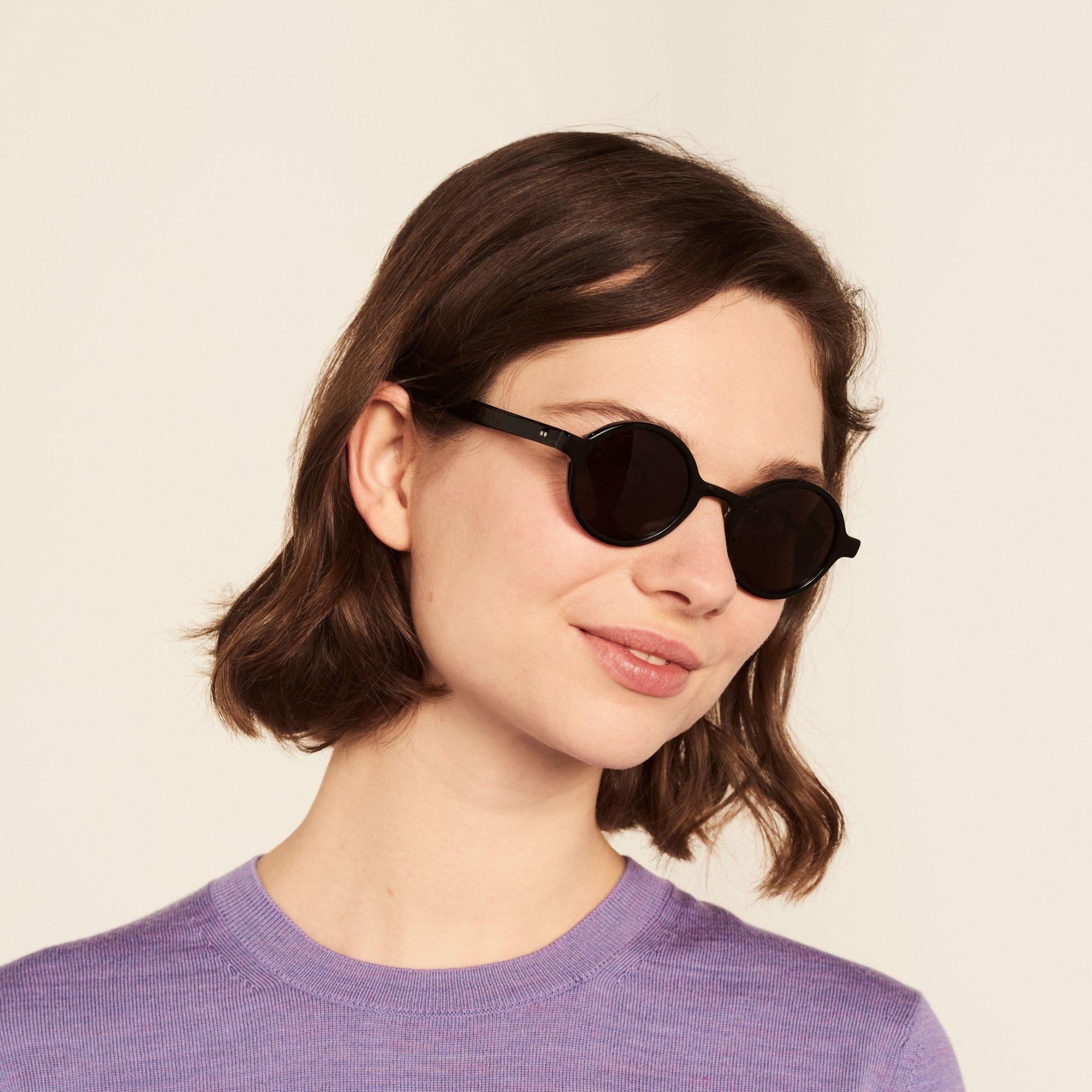 Ace & Tate Sunglasses | rund Acetat in Schwarz