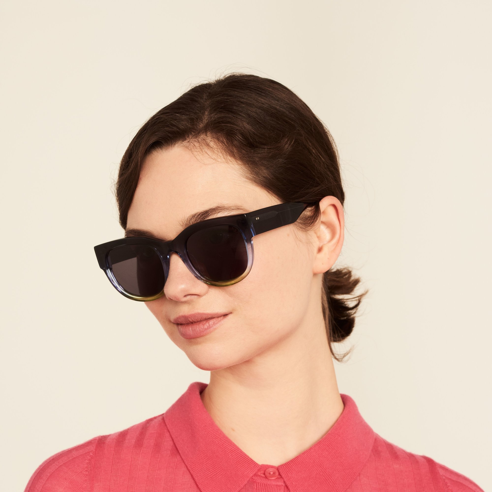 Ace & Tate Sunglasses   round acetate in Blue, Yellow