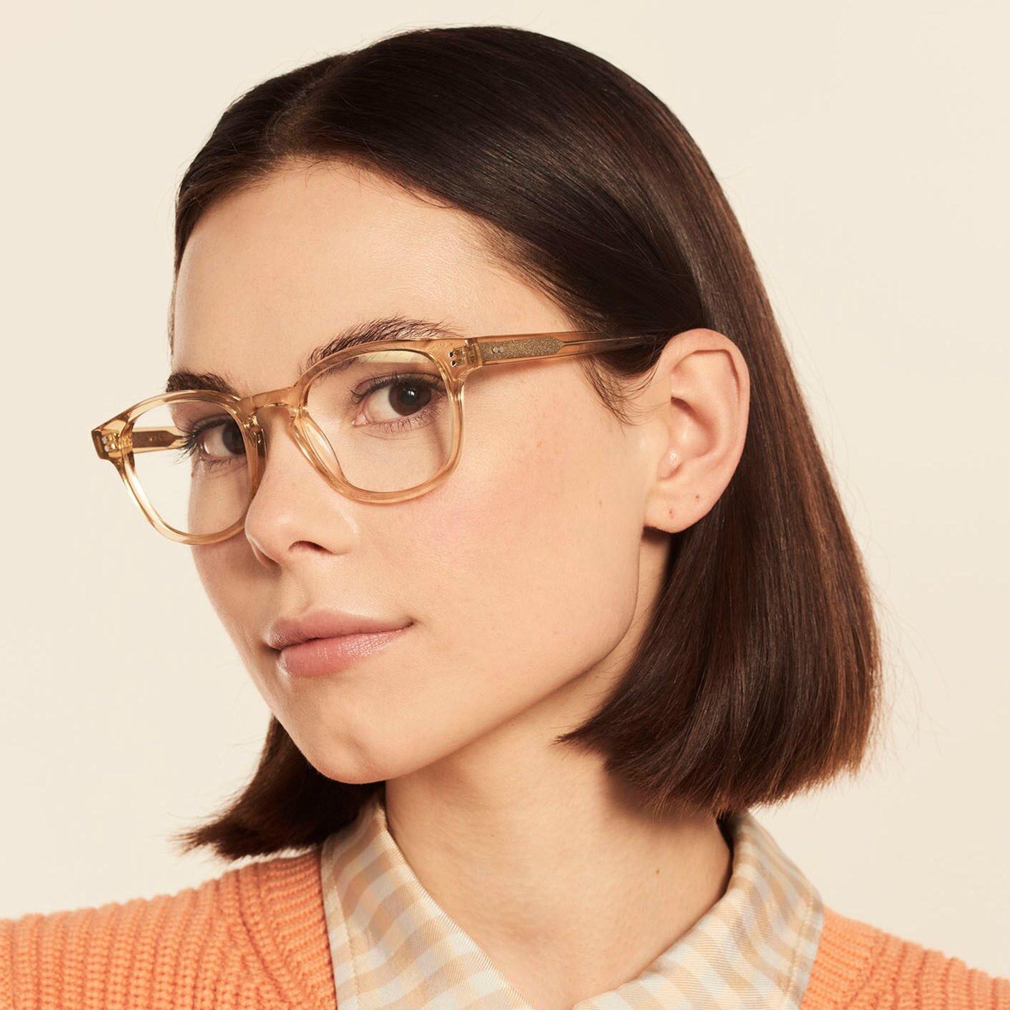 Ace & Tate Glasses | carrée acétate in Jaune