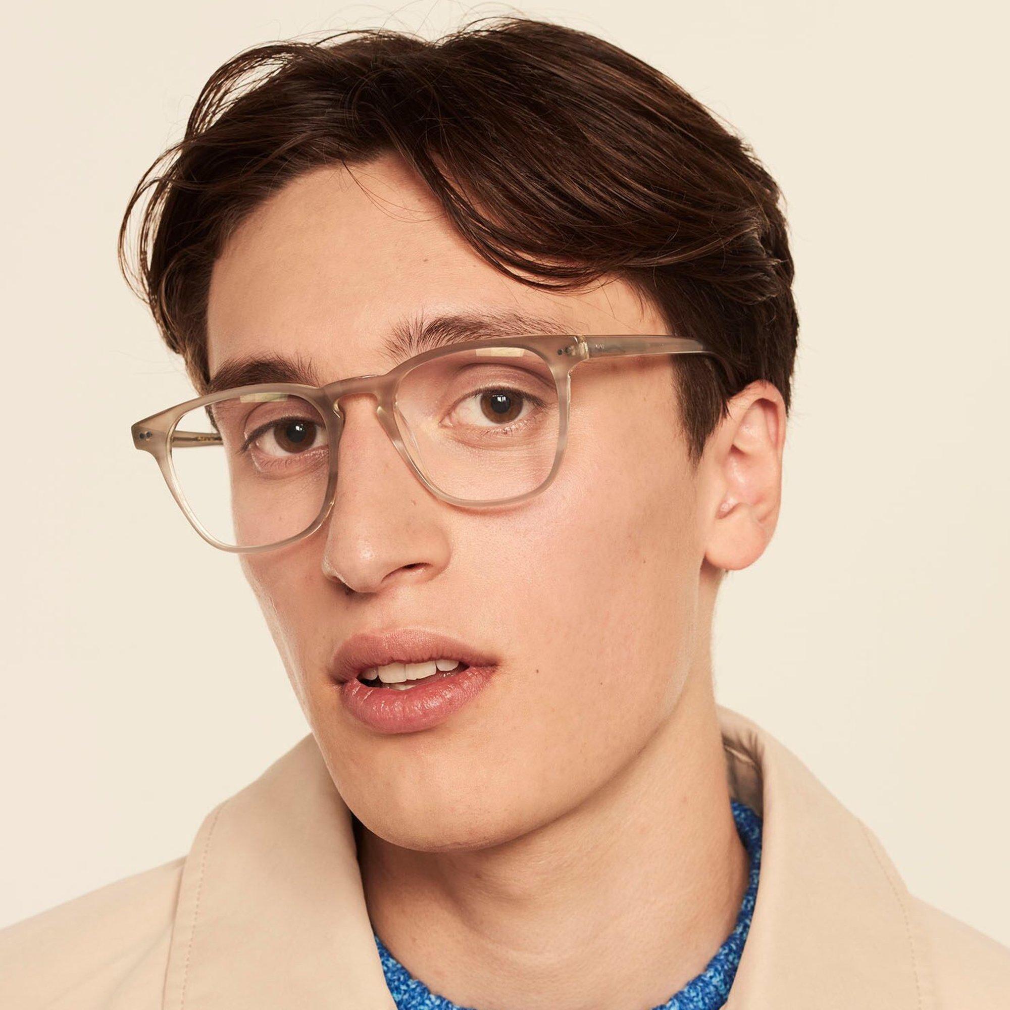 Ace & Tate Glasses | quadratisch Acetat in Grau, Weiß