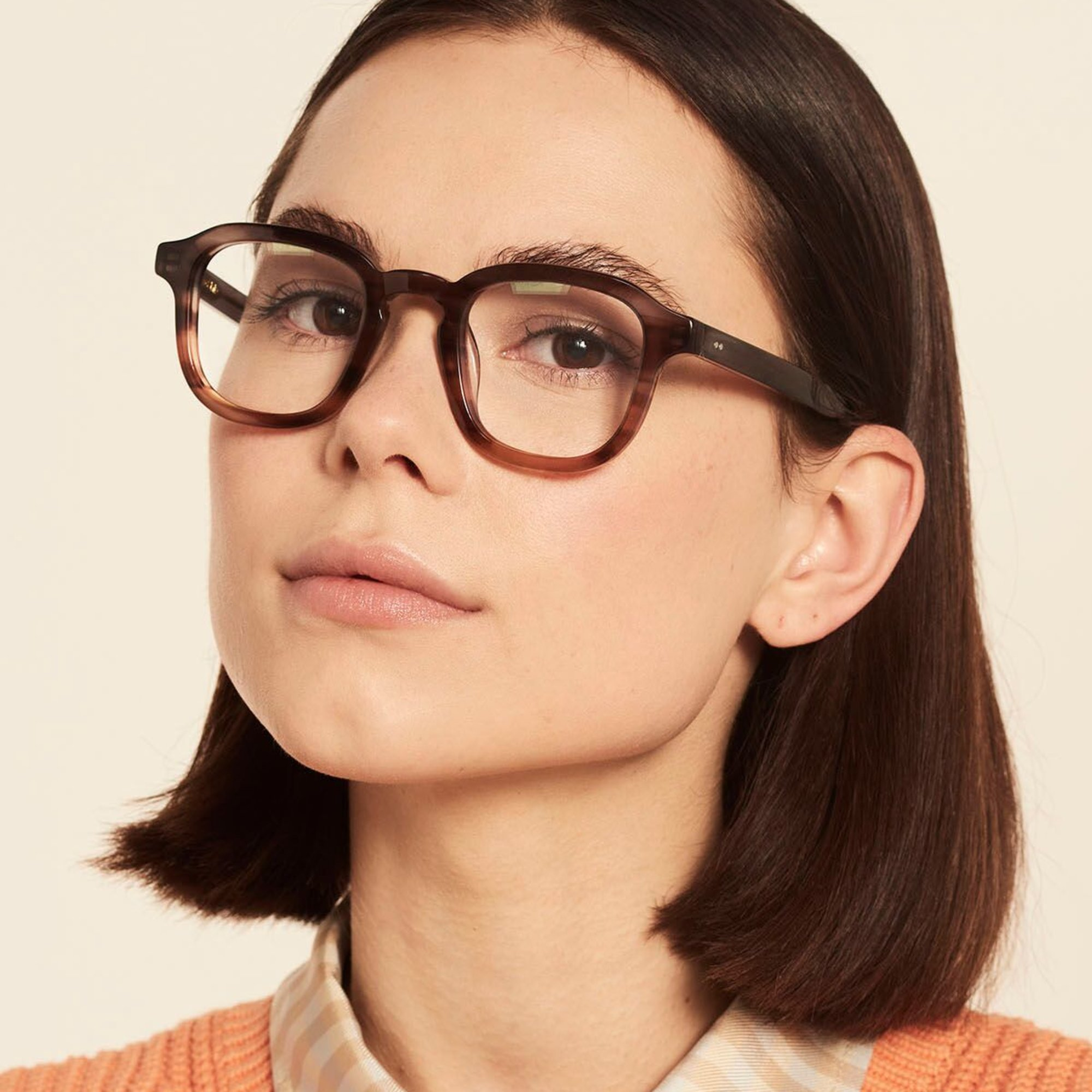 Ace & Tate Glasses | square acetate in Grey, Brown, Orange