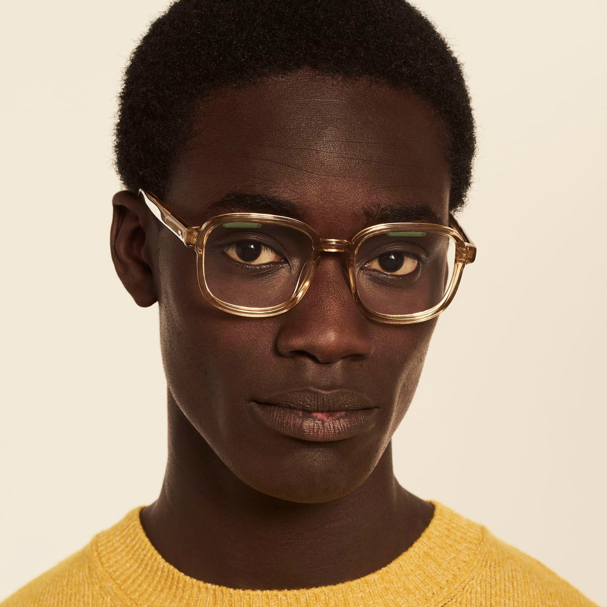 Ace & Tate Glasses | square acetate in Yellow
