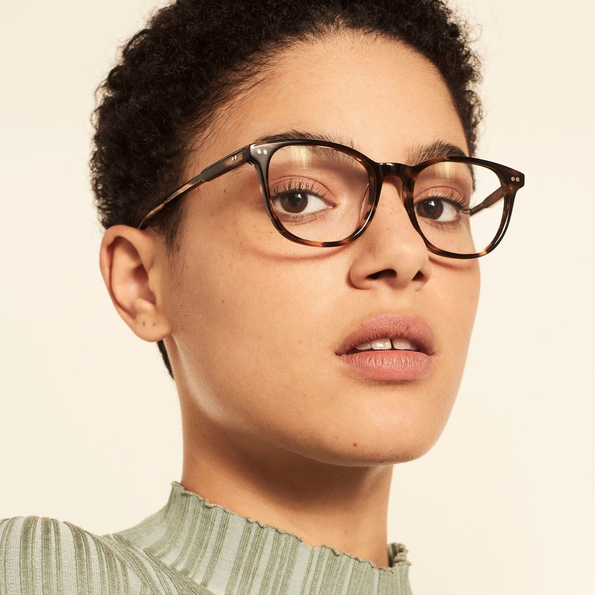 Ace & Tate Glasses | round acetate in Brown, Orange