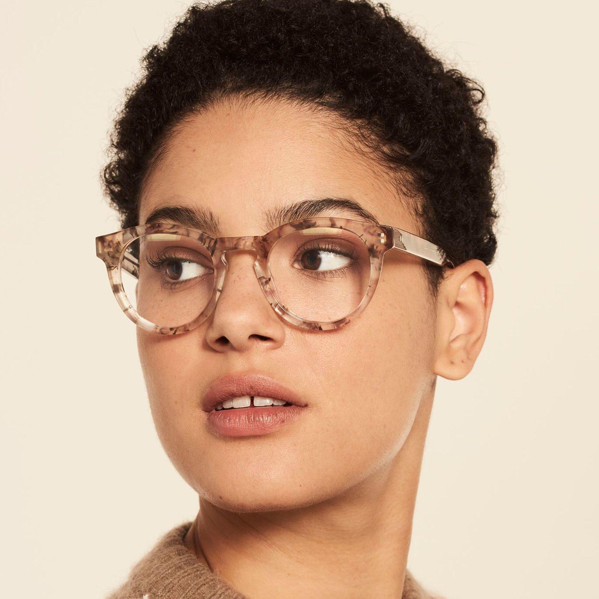 Ace & Tate Glasses | rund Acetat in Braun, Grau, Weiß