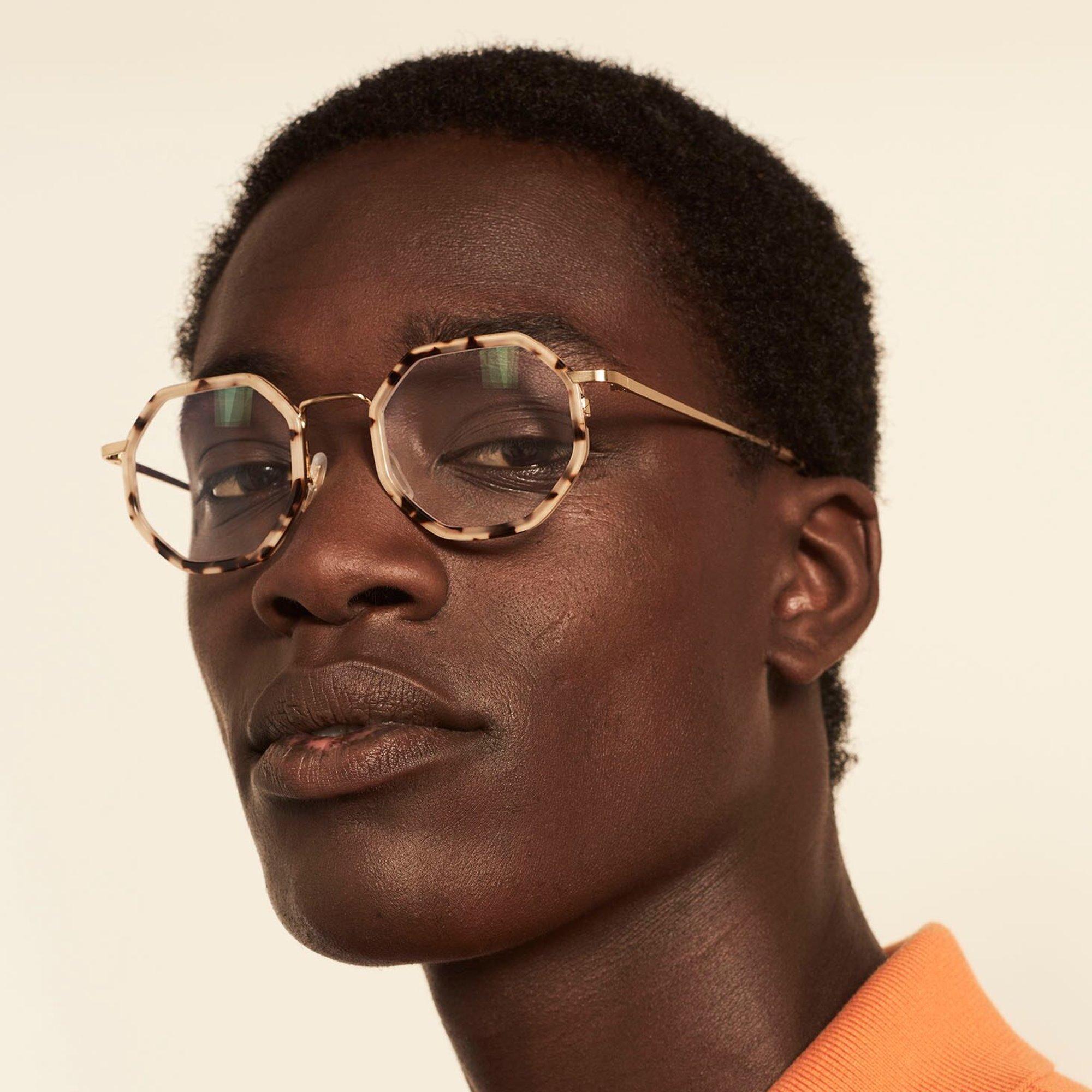 Ace & Tate Glasses |  acétate in Beige, Marron