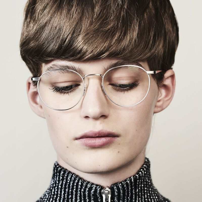 Ace & Tate Glasses | round metal in Silver