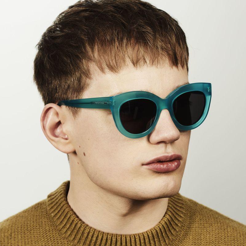 Ace & Tate Sunglasses |  acétate in Bleu, Vert