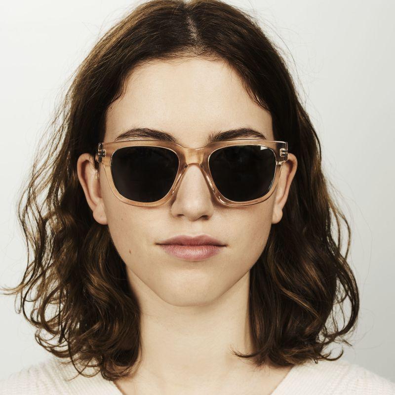 Ace & Tate Sunglasses | square acetate in Clear