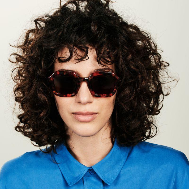Ace & Tate Sunglasses   square acetate in Orange, Red