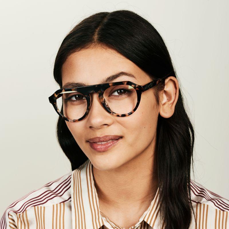 Ace & Tate Glasses | rund Acetat in Braun