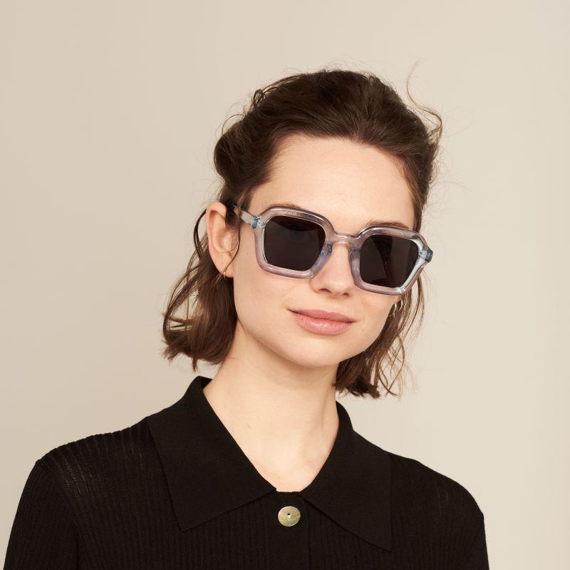 Ace & Tate Sunglasses | carrée bio-acétate in Bleu
