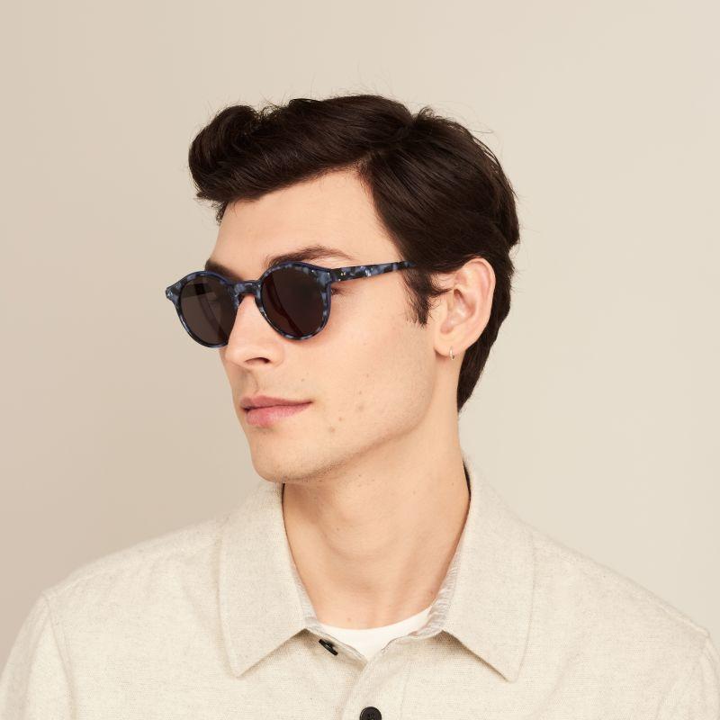 Ace & Tate Sunglasses | round acetate in Blue