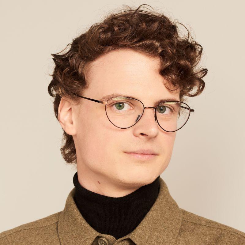Ace & Tate Glasses |  métal in Marron