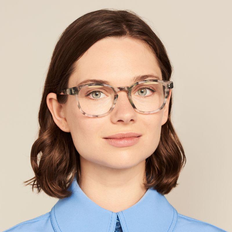 Ace & Tate Glasses | square acetate in Beige, Blue, Green