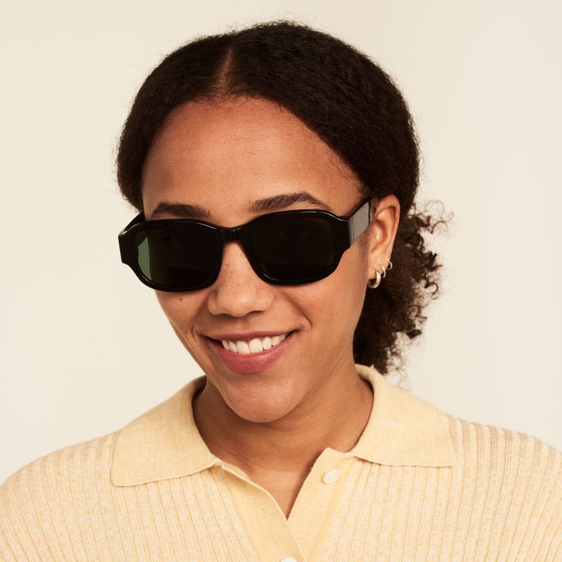 Ace & Tate Sunglasses   square acetate in Black