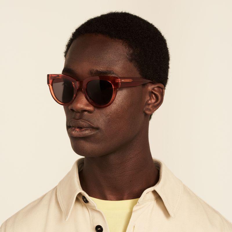 Ace & Tate Sunglasses | round acetate in Orange