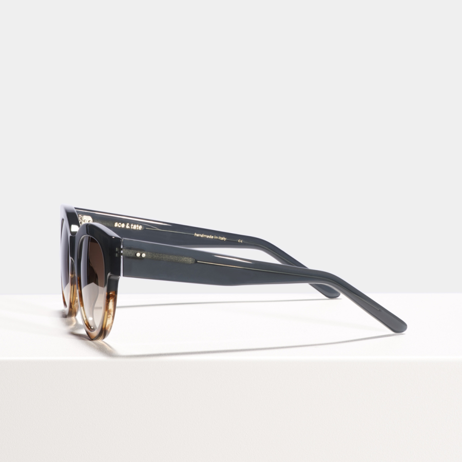 Ace & Tate Sunglasses | round acetate in Brown, Green