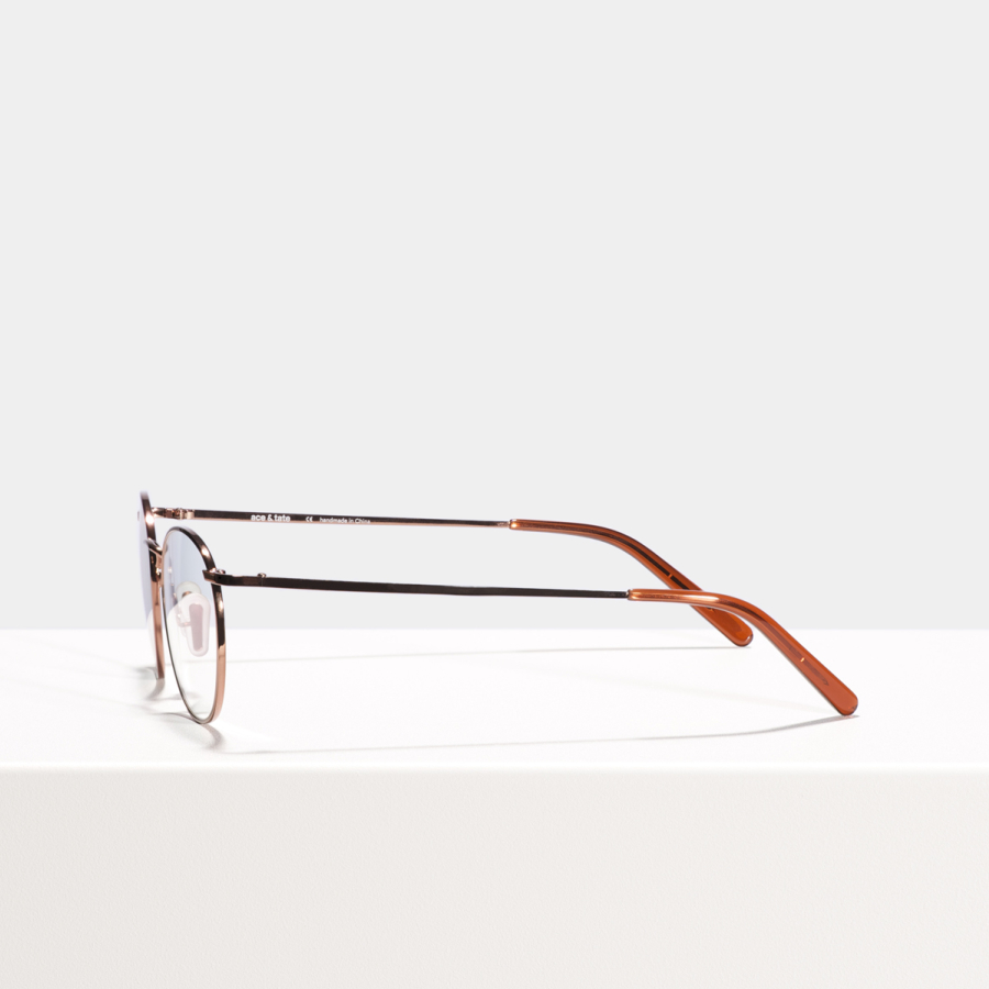 Ace & Tate Glasses | round metal in Brown, Red