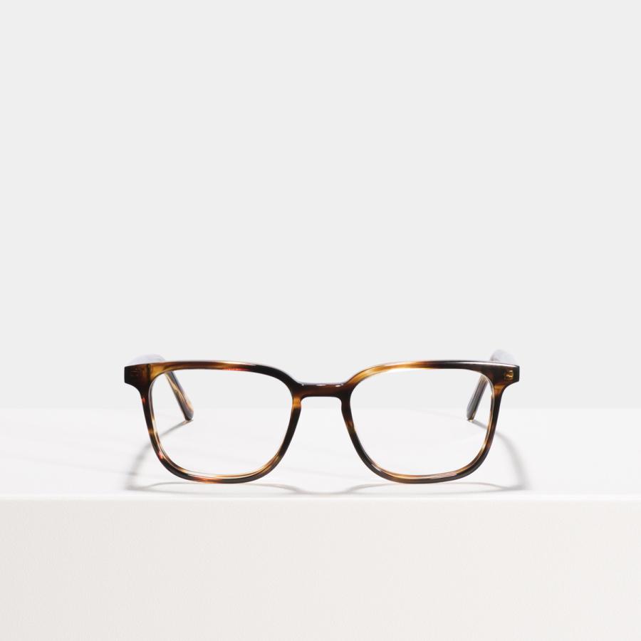 Ace & Tate Glasses | rectangulaire acétate in Marron, Orange