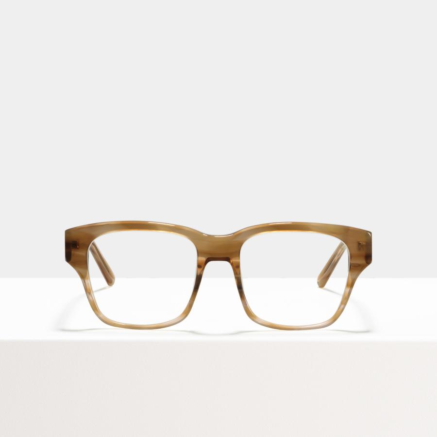 Ace & Tate Glasses | square acetate in Beige, Orange