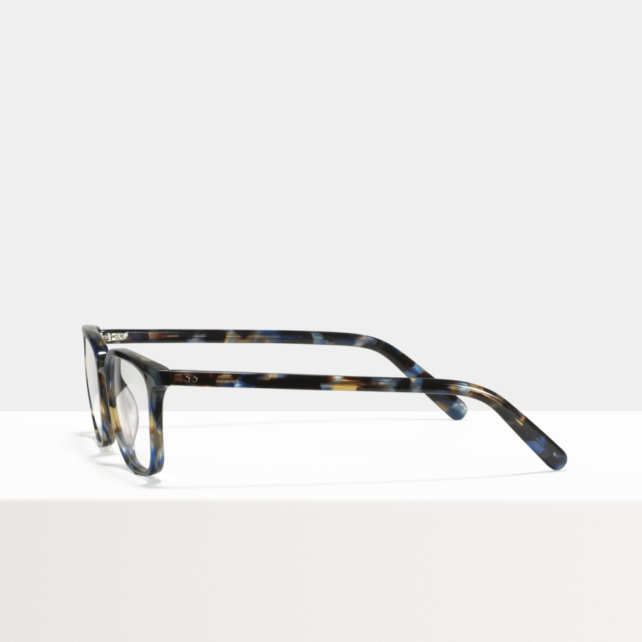 Ace & Tate Glasses | rectangle acetate in Blue, Brown