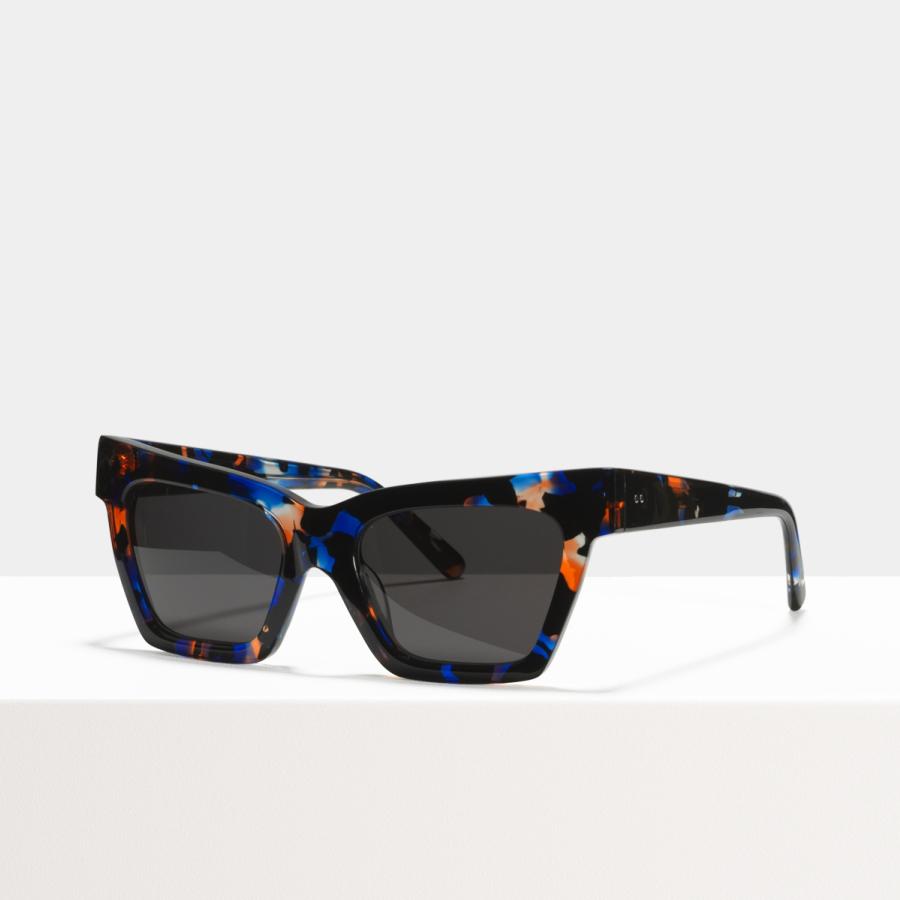 Ace & Tate Sunglasses | rectangle acetate in Blue, Orange