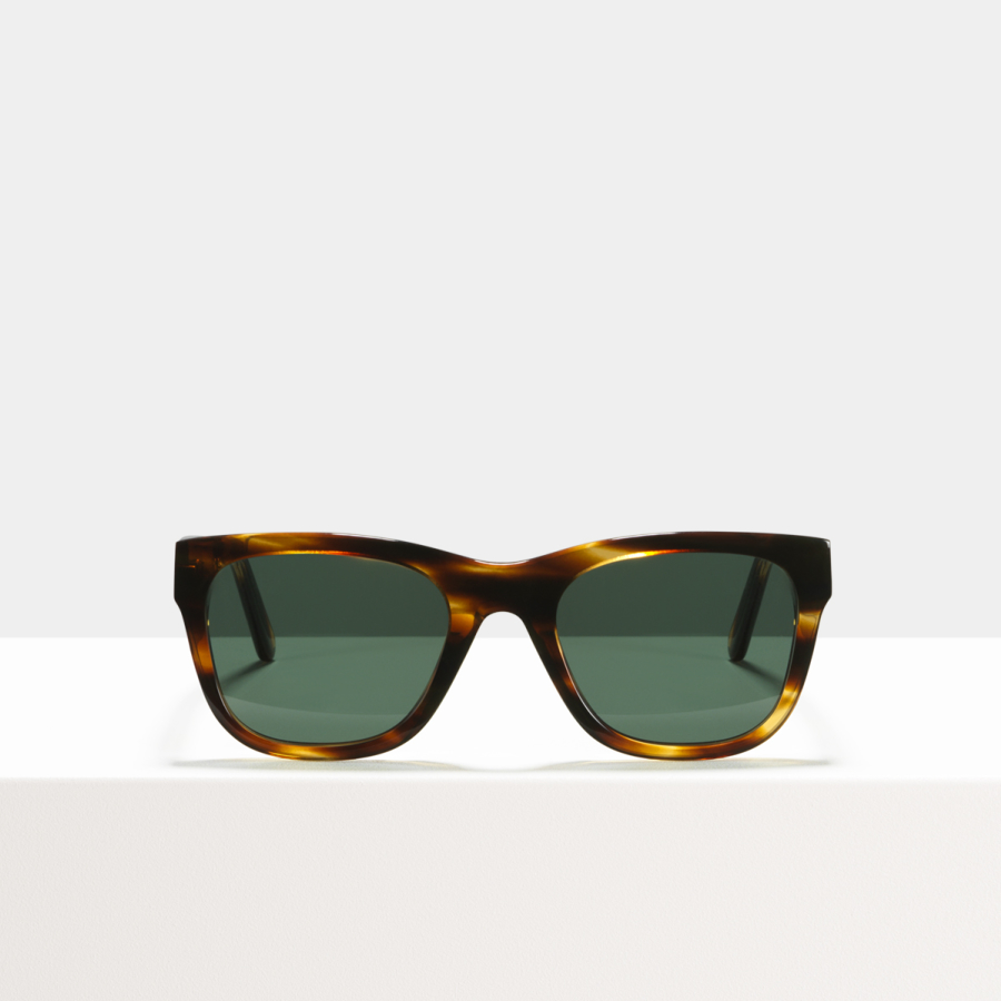 Ace & Tate Sunglasses | rectangulaire acétate in Marron, Orange
