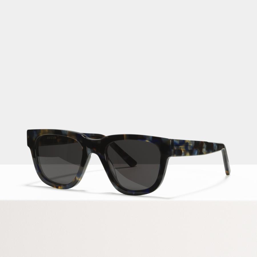 Ace & Tate Sunglasses | square acetate in Blue, Brown