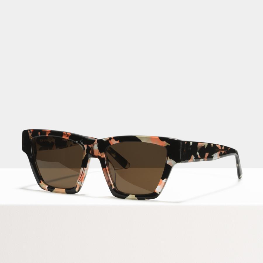 Ace & Tate Sunglasses | square acetate in Pink