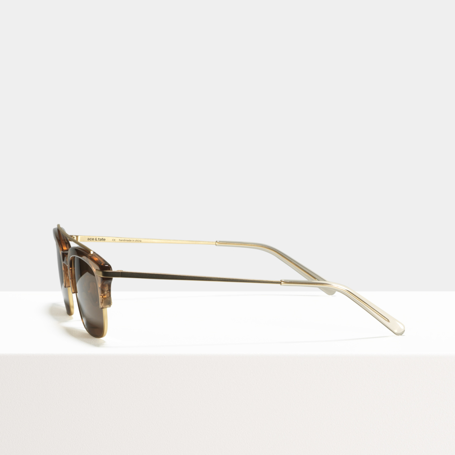 Ace & Tate Sunglasses | rectangle combi in Brown
