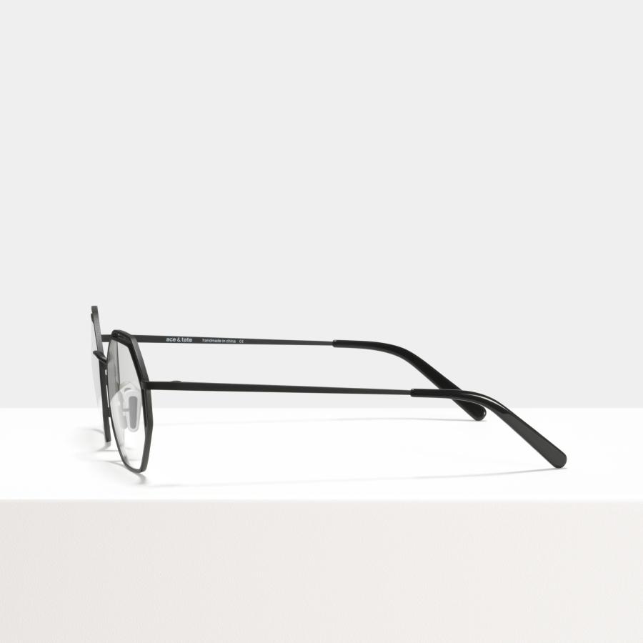 Ace & Tate Glasses |  metal in Black