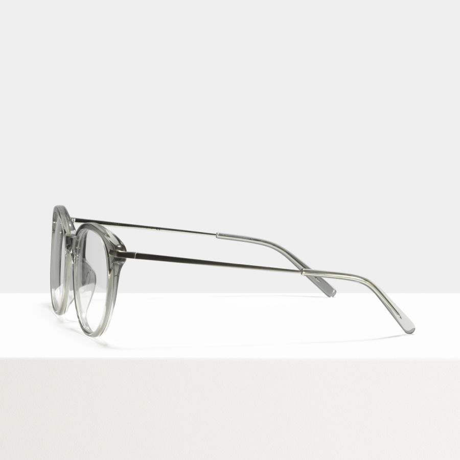 Ace & Tate Glasses   round acetate in Clear, Grey
