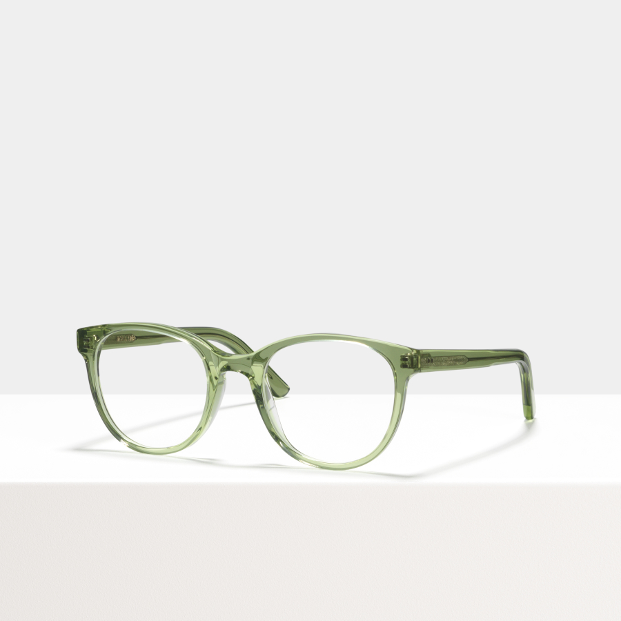 Ace & Tate Glasses | round acetate in Green