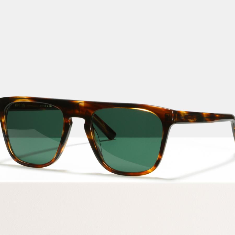 Ace & Tate Sunglasses | square acetate in Brown, Orange